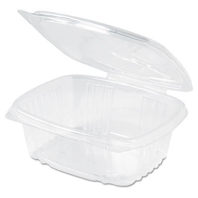 - GenPak AD12 Clear Rectangular Hinged Deli Container with Flat Lid, 12-Ounce, 200 per case