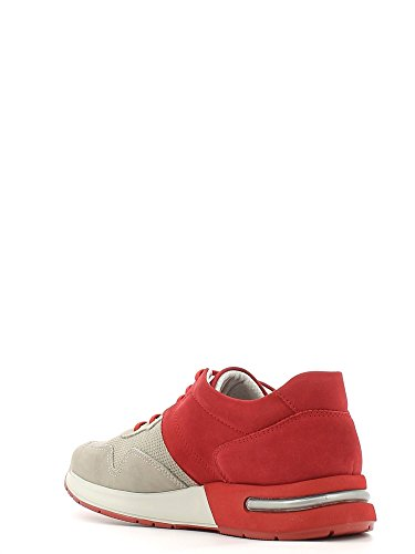 CallagHan 91300 Sneakers Uomo Pelle Piedra/Rojo Piedra/Rojo 44