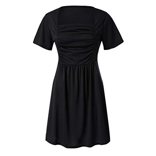 Suelto Negro Tubo Mujer T Sólido Blusa Camiseta Color Delgada Manga Oficina Tops Riou Shirt Corta Verano Invierno Camisa De Primavera Básica 8qRZZt