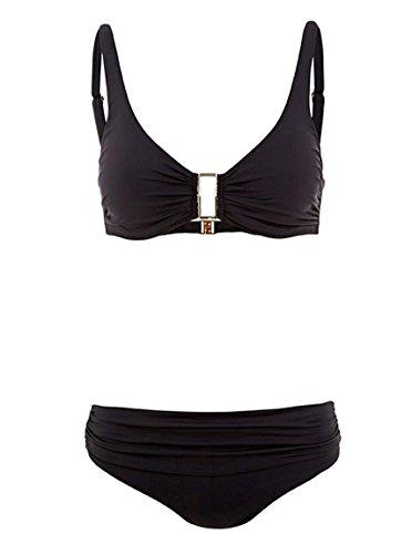 Melissa Odabash BEL AIR D-G CUP Over-the-shoulder Bikini set (Small/6, Black)