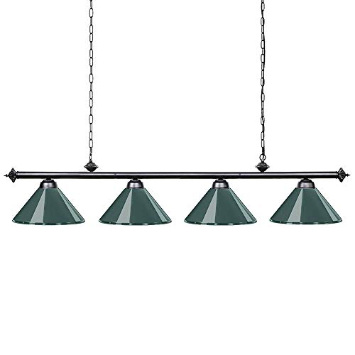 Price comparison product image Wellmet 70 Inch Island Light,  4-Light Vintage Industrial Retro Kitchen Island Counter Pendant with Metal Shades,  Perfect for Men's Cave,  Kitchen,  Dinning Room,  Bar