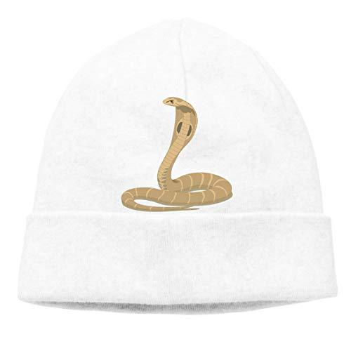 - Skull Cap, Solid Headband King Cobra Snake Unisex Beanie Hats White