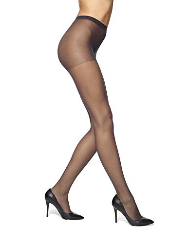 No Nonsense Women's Plus Size Regular Reinforced Toe Pantyhose (Non Control Top), 1 Pair, Off Black