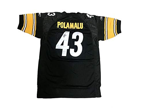 Troy Polamalu Signed Jersey - Troy Polamalu Pittsburgh Steelers Home Black Autographed Signed Jersey Memorabilia - JSA Authentic