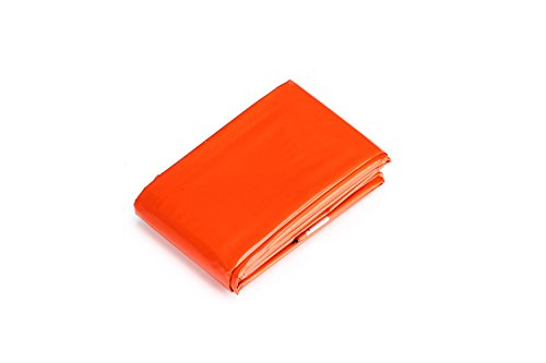 Somine-Emergency-Blanket2-packsReusable-Waterproof-BlanketDesigned-with-up-to-90-Heat-Retention-First-Aid-Color-Bright-Size-83-X52GreenOrange