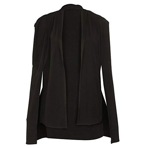 Manches Noir Chic Femme Manteau Duster Femmes Unie ❤️manteau Amlaiworld Longues Couleur Dames Design Élégant À Blazer Châle Costume Veste Blouson Hxw5Tq576