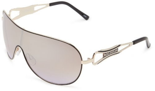 Rocawear R452 GLDBK Shield Sunglasses,Gold & Black,65 - Glasses Rocawear