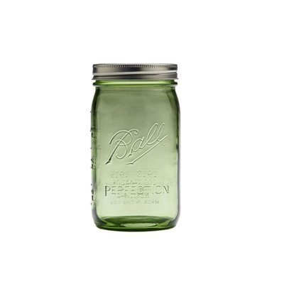 Heritage Spring Green Quart Mason Jars (Set of 12)