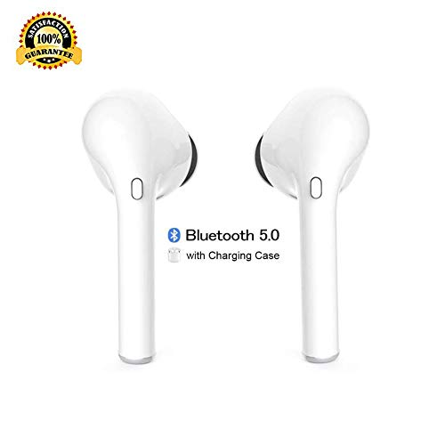 True Wireless Bluetooth Headphones,in-Ear Wireless Earbuds Stereo Bluetooth Headset with Microphone Anti-Sweat Sports Earbuds,Earphones Compatible with Samsung Apple Airpods Android iPhone