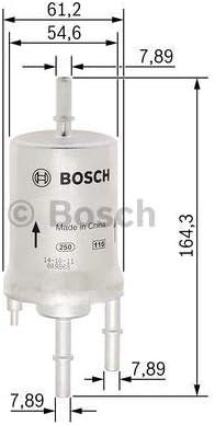 Bosch F026403008 FILTRO DEL CARBURANTE
