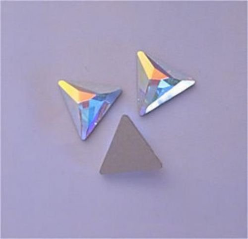 SWAROVSKI Flatback Cosmic Triangle CRYSTAL AB 12.5mm