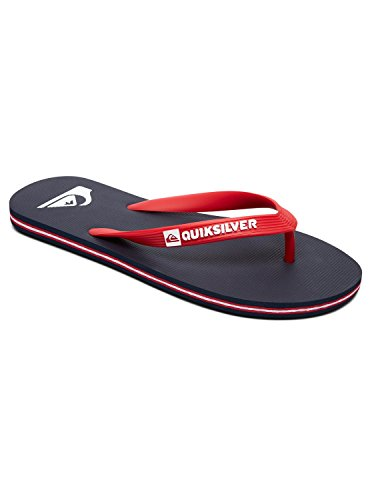 Quiksilver Men's Molokai Beach and Pool Shoes Blue (Blue/Red/Blue Xbrb) Gm009dPJ