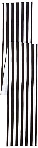 Ling's moment Classical Durable Black and White Striped Table Runner - Cotton Canvas Fabric Table Top Decoration 12