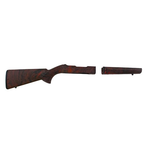 Hogue 21042 10/22 Takedown Standard Barrel Rubber OverMolded Stock, Red Lava