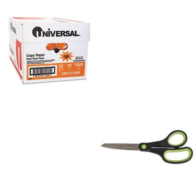 KITUNV21200UNV92012 - Value Kit - Universal Office Scissors (UNV92012) and Universal Copy Paper (UNV21200)