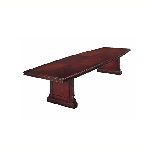 DMi Keswick Boat Shaped 10' Conference Table with Slab Base in (Keswick Boat)