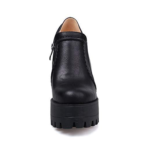 Urethane Shoes Black Mule APL10750 Platform BalaMasa Womens Pumps Solid HqIWTwf