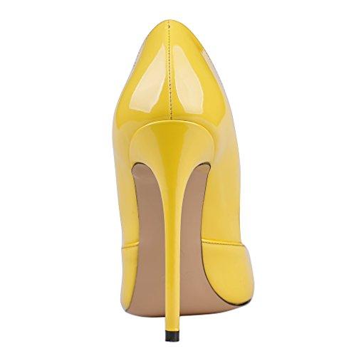 MERUMOTE - Zapatos de tacón fino Mujer Amarillo - Gelb-Lackleder