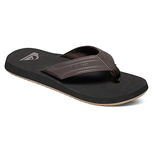 1b275f9060d9 Quiksilver M s Monkey Wrench 3 Point Sandal Brown BLK Brown 6(39 ...