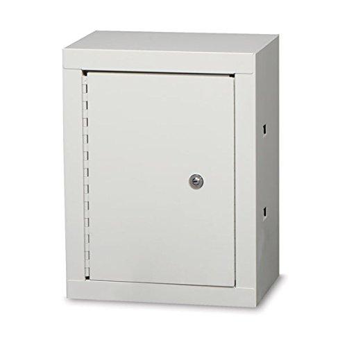 """Double Door / Double Lock Narcotics Cabinet Baked Enamel with 1 Adjustable Shelf 12""""W x 8""""D x 15""""H"""