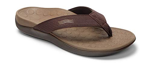 Brown Heeled Chocolate - Vionic Unisex Wave Toe Post Sandal, 9 B(M) US Women / 8 D(M) US Men, (Chocolate)