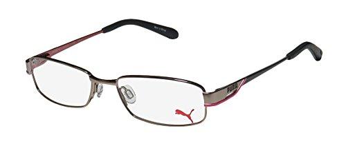 Puma 15324 Santa Fe Mens/Womens Designer Full-rim Eyeglasses/Eyewear (51-16-135, Light Brown / Pink / - Fe Santa Eyewear