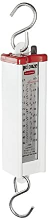 """Rubbermaid Commercial FG007895000000 Pelouze Heavy Duty Steel Mechanical Compact Hanging Scale, 50 lbs Capacity, 1-3/4"""" Length x 1-3/4"""" Width x 11-3/4"""" Height"""