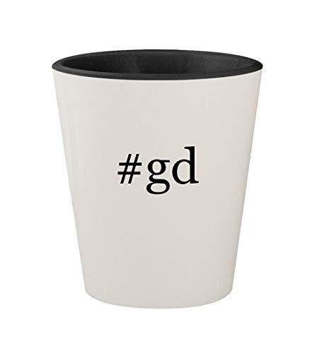 #gd - Ceramic Hashtag White Outer & Black Inner 1.5oz Shot Glass (Griffeys Air Max 2)
