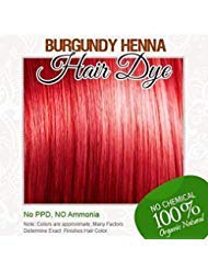 100% Organic and Chemical Free Henna for Hair Color Hair Care 60 g. (BURGUNDY HENNA)
