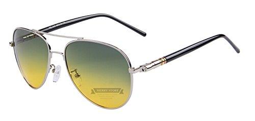 lo Por noche Night sol conducción de Multicolor hombres Silver gafas C07 TIANLIANG04 plateada Oculos C07 verano polarizadas tanto qOdwPT5