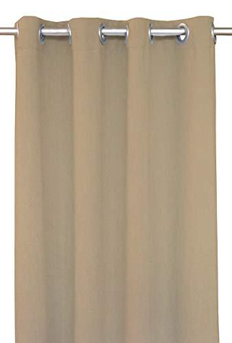 RSH Décor Indoor/Outdoor Brush Nickel Grommet Curtain Panel Made from Sunbrella Canvas Vellum (50