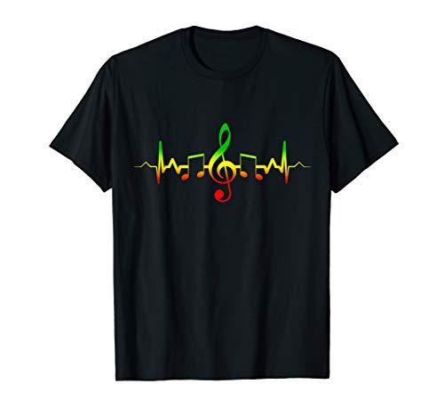 Reggae Music Heartbeat T-Shirt -...