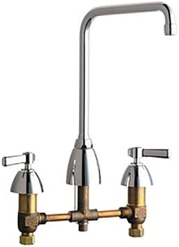 Chicago Faucets 201-AHA8 High Rise Swing Spout Kitchen Faucet, Chrome
