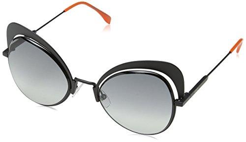 Fendi Women's Cat Eye Sunglasses, Black/Dark Grey, One - Fendi Eye Cat Glasses