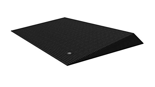 """EZ-ACCESS TRANSITIONS Rubber Angled Entry Mat in Black, 2.5"""" Rise"""