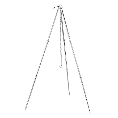 BBQ Grill Tripod Camping Campfire Holder Camp Picnic Cooking Hanging Pot Tool