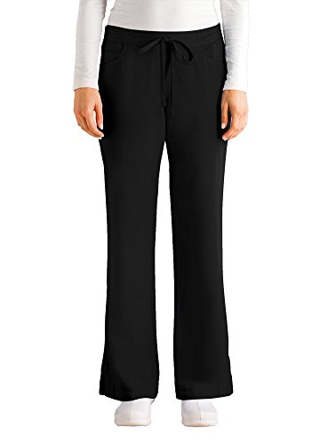 Grey's Anatomy Women's Junior-Fit Five-Pocket Drawstring Scrub Pant - Small - Black
