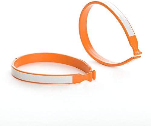 Plastic Pant Clip with Reflective Stripe EVO Orange