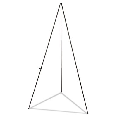 Heavy-Duty Instant Setup Foldaway Easel, Adjusts 25'''' - 63'''' High, Aluminum, Black, Sold as 1 Each by Universal One