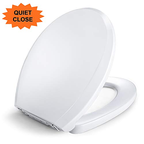 - Toilet Seat, Dalmo TBTS02R Round Toilet Seat with Quick Release & Non-Slip Seat Bumpers, Round Front Quiet-close Top-Tite STA-TITE Toilet Seat for Easy Installation & Cleaning