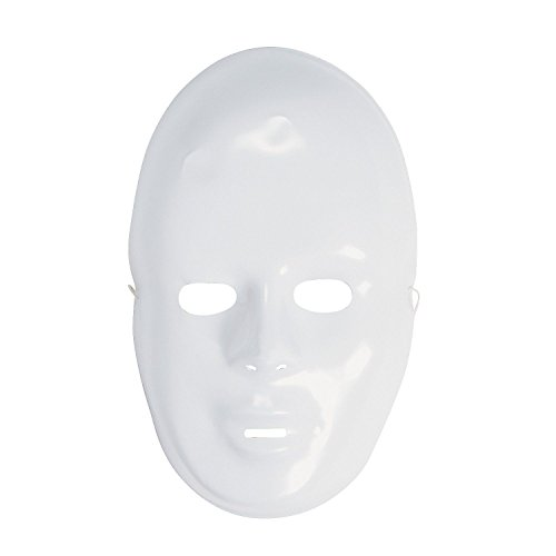 Generic O-8-O-2762-O , Free Face Masks, New, asks, N Drama Party Kids Kids Fa 12-pack Plastic Drama P lloween Halloween White HX-US5-16Mar28-1459 (Elroy Face)