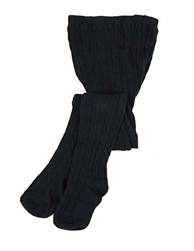 Price comparison product image Leveret Baby Girls Knit Cable Tights Navy Size 18-24 Months
