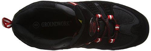 Herren Groundwork Sicherheitsschuhe Red GW400 Black Schwarz N fZx68Z