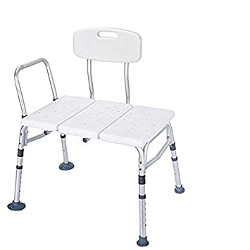 Fantastic Healthline Tub Transfer Bench Lightweight Medical Bath And Shower Chair With Back Non Slip Seat Transfer Bench For Elderly And Disabled Medical Machost Co Dining Chair Design Ideas Machostcouk