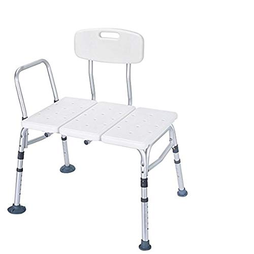 HEALTHLINE Tub Transfer Bench, Lightweight Medical Bath and Shower Cha