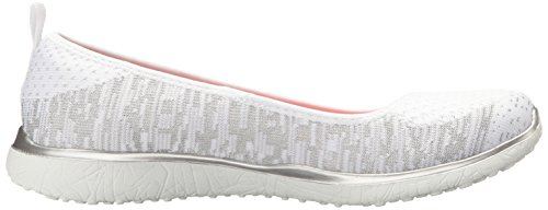 You M Women Sneaker US 7 Look Skechers 5 Silver Fashion Microburst Made White Sport qI4Oxw7S