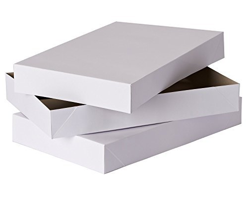 2 Coat White Gift Boxes, 19 x 14.25 x 4 Inches