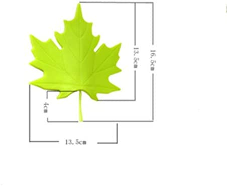 NIEHFIT Practical Kid Baby Creative Maple Leaf Shape Finger Safety Door Stopper Stops Protector Wedge Door Catcher Block Home Decor Color : Green