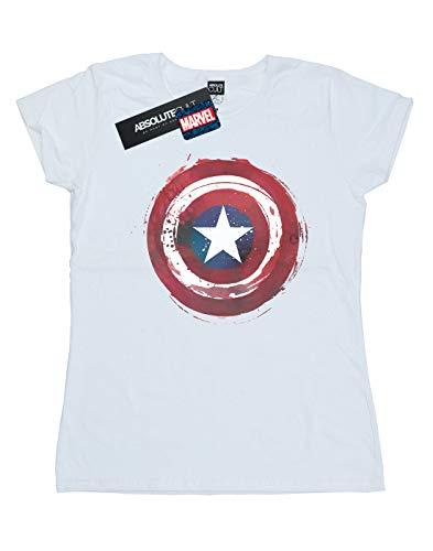 Splatter T Femme Marvel Captain Blanc Shield shirt America 6Pa7SHq