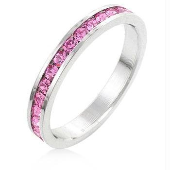 J Goodin Women Youth Trendy Fashion Jewelry Stylish Stackables Pink Crystal Ring Size 9 by JGOODIN from JGOODIN
